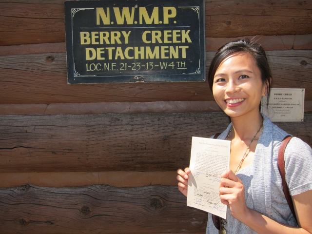 joining the NWMP heritage park calgary 1