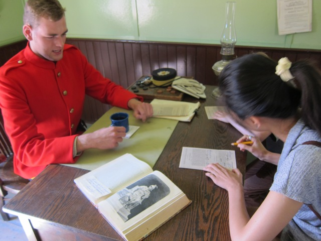 joining the NWMP heritage park calgary