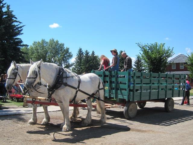 wagon ride heritage park