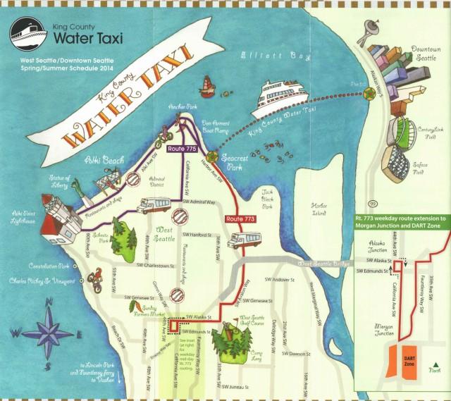 West Seattle map