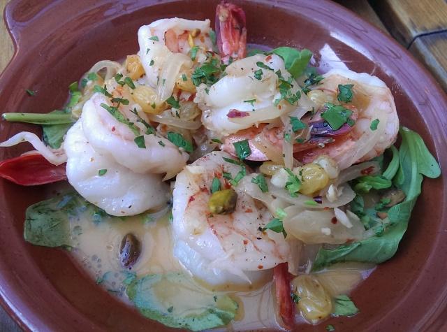 pan-seared wild white shrimp