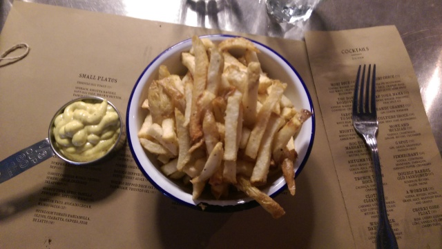 double dipped duck fat fries with curry aioli