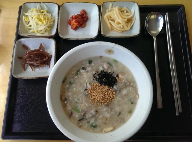 mushroom and abalone porridge