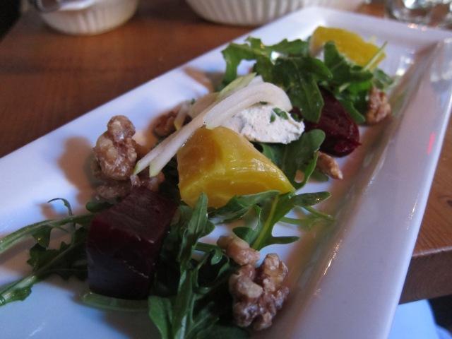 rocket and watercress beetroot salad